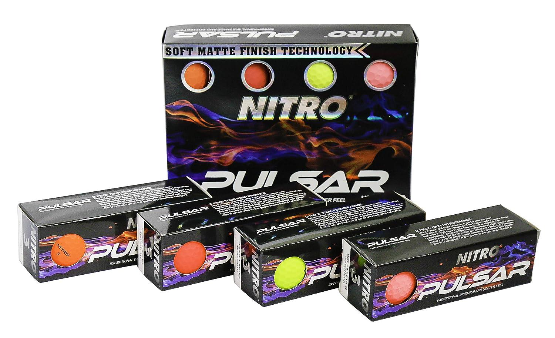 Nitro Pulsar Box Golf Balls Pack 12