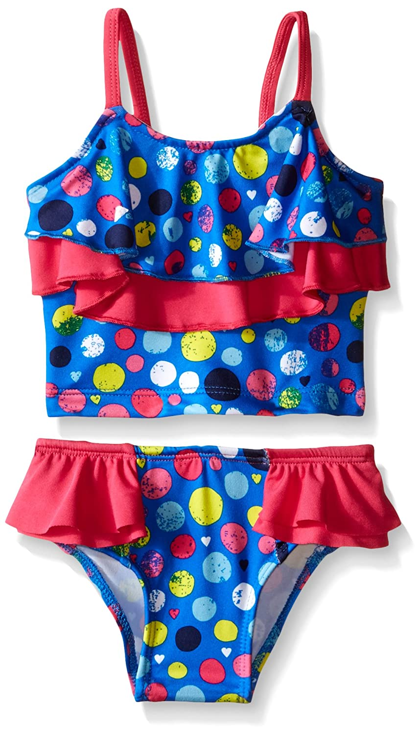 Pink Platinum Baby Girls' Colorful Dots Tankini PP669250