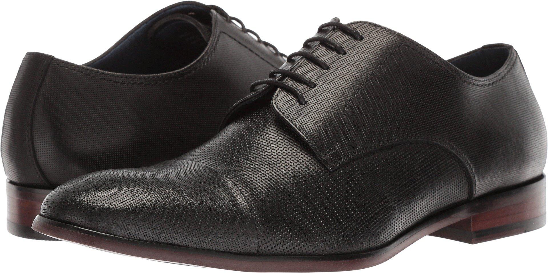 Steve Madden Men's Preston Oxford, Black Leather, 8.5 M US