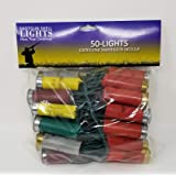 More Than Christmas 50-Shotgun Shell Light Set-Multi (has Plugs on Both Ends Light Set)