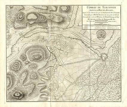 Amazon Com Antique Map Turckheim Colmar Battle 1675 France Beaurain
