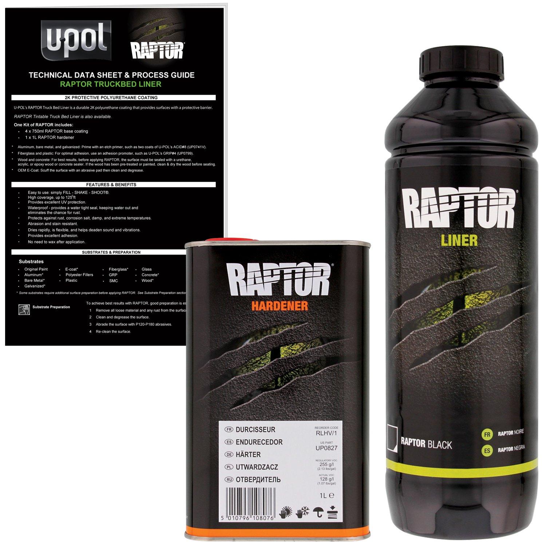 Bed Liner Spray >> U Pol Raptor Black Urethane Spray On Truck Bed Liner Texture Coating 1 Liter