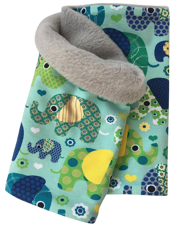 Wollhuhn - Bufanda - para niño verde Elefanten blau / grün Talla única
