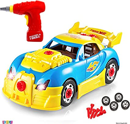 Build Your Own Racing Vehicle Kit with 30 Pieces Take Apart Toy Race Car