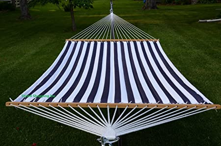 Styled Shopping Deluxe Quilted Blue and White Hammock Extra Soft Polyester
