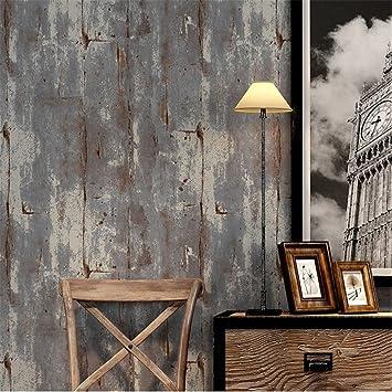 Yizhang Retro Vintage Ciment Mur Plaine Rouille Violet Non Tisse