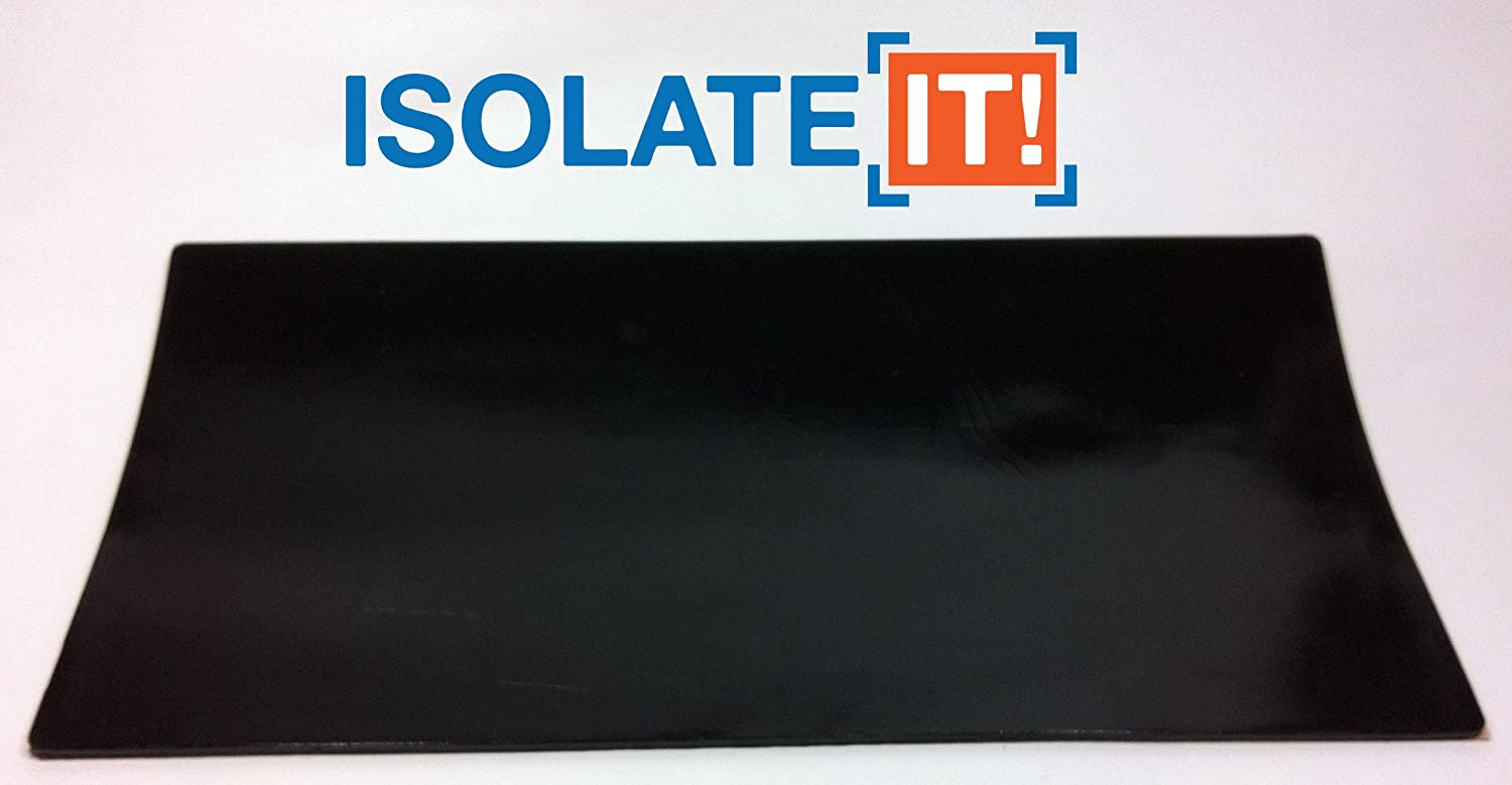 Isolate It Sorbothane Acoustic Vibration Damping Film 50 Duro with 3M Adhesive 0.10 x 6 x 12in 1 Sheet