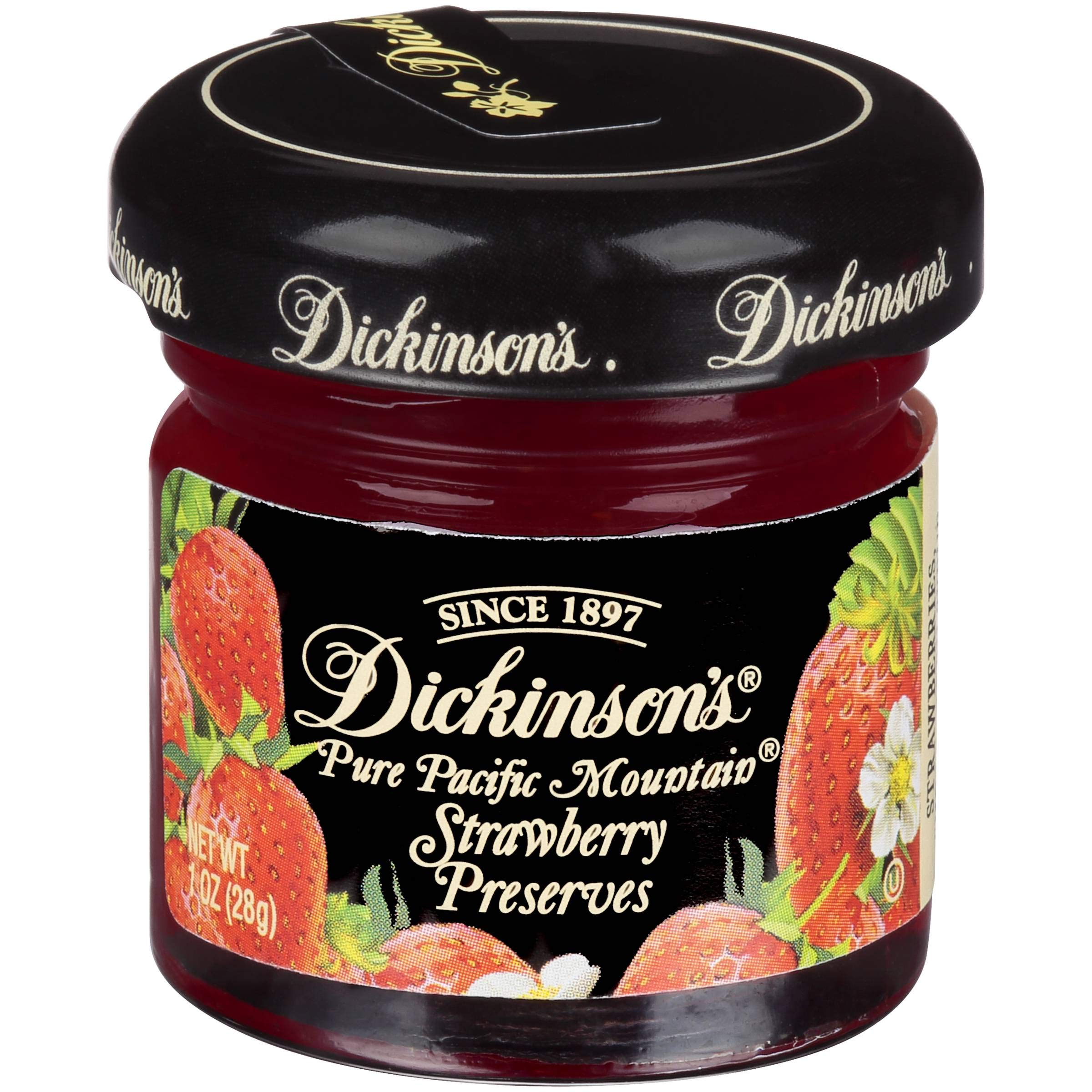 Dickinsons Strawberry Preserve, 1 Ounce -- 72 per case. by Dickinson