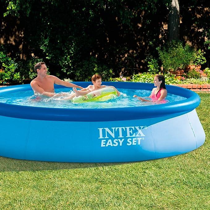 Intex 28130NP - Piscina hinchable Easy Set 366 x 76 cm, 5.619 litros: Amazon.es: Jardín
