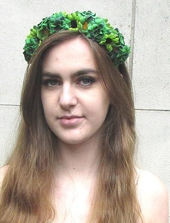reputable site 079b6 bad82 Grün Rose Daisy Blume Haar Krone Haarband Kopfbedeckung BOHO ...