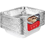 Aluminum Pans 9x13 Disposable Foil Pans (10 Pack) - Half Size Steam Table Deep Aluminum Trays - Tin Foil Disposable Pans Grea