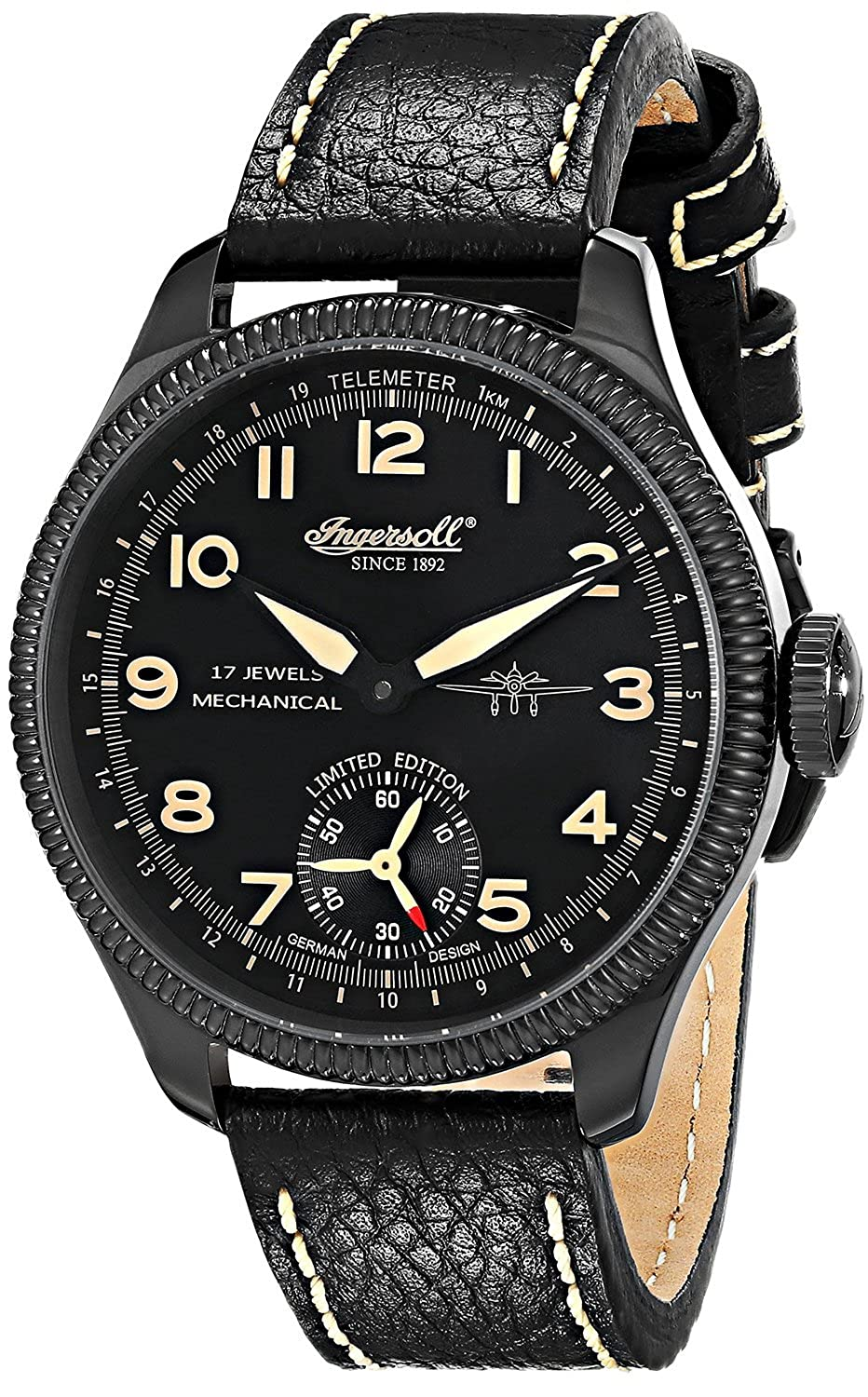 [インガソール]Ingersoll 腕時計 Chinook Stainless Steel Mechanical Watch with Black Leather Band IN3105BBKO メンズ [並行輸入品] B016E4NDTA