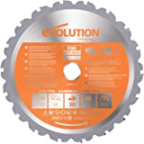 Evolution Power Tools - Hoja de corte multiusos para acero (7-1/4 pulgadas)