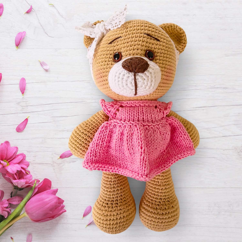 Valentine's Teddy Bear crochet PATTERN: Amigurumi Bear + pattern ... | 1500x1500