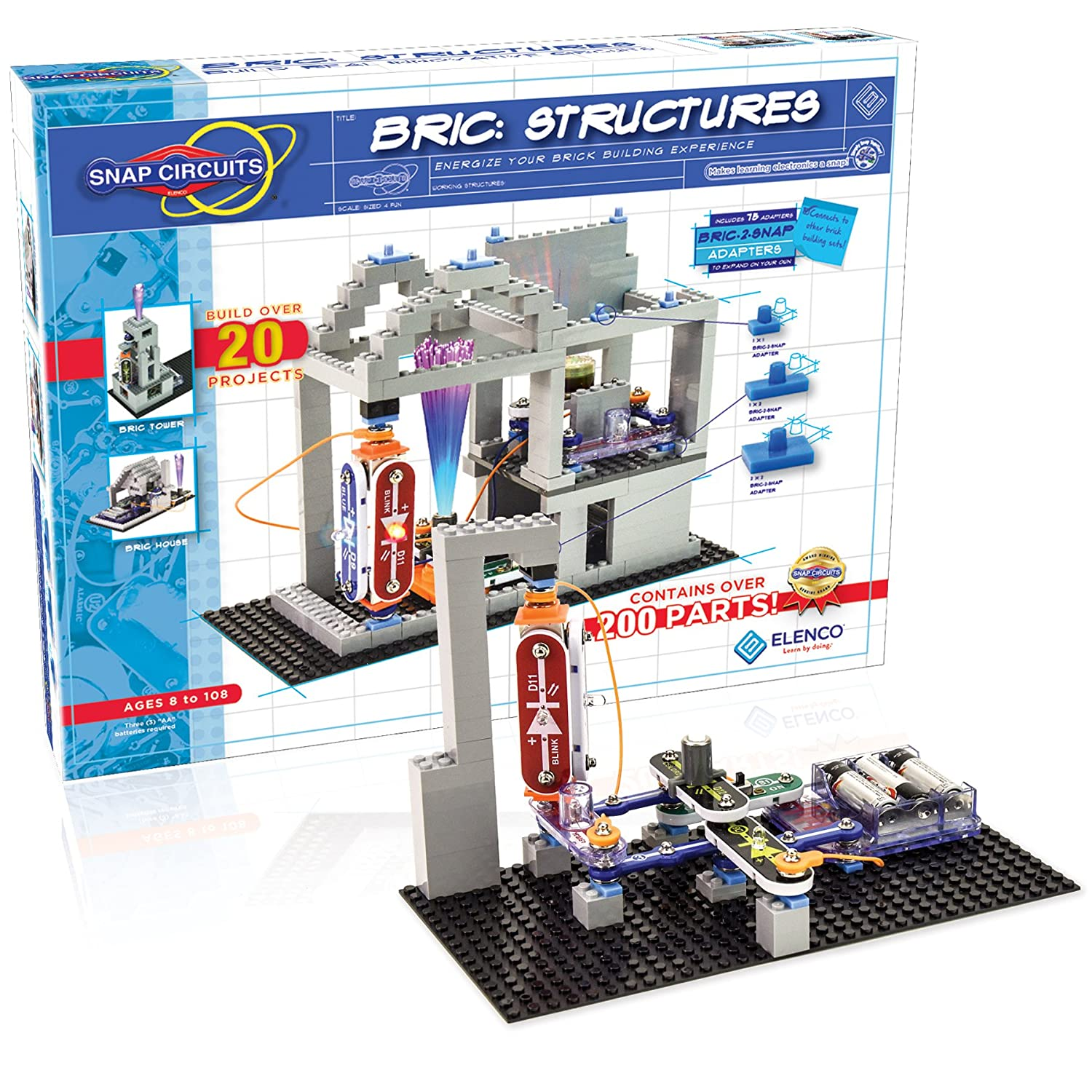 Snap Circuits Bric Structures Brick And Electronics Exploration New Circuitsr Sound Scs185 Gtin Stock Now Kit Over 20 Stem Projects 4 Color Idea Book Modules 75 2