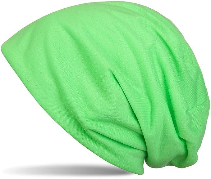 Gorros neón verde fosforito unisex barato