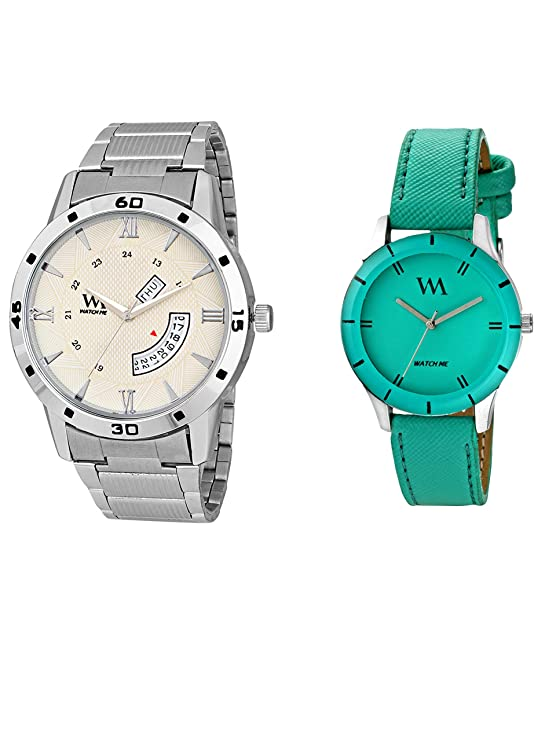 Watch Me Stylish Wrist Watch GIF Set Combo for Couple Men and Women DDWM-042-WMAL-225 Watch for Mens Under 500 ; Watches for Mens Stylish ; Watch for Men Stylish Latest
