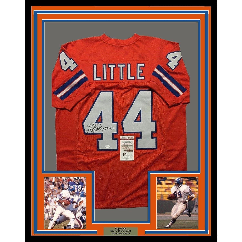 24f78ac1b Amazon.com  Autographed Floyd Little Jersey - FRAMED HOF 33x42 Orange COA - JSA  Certified - Autographed NFL Jerseys  Sports Collectibles