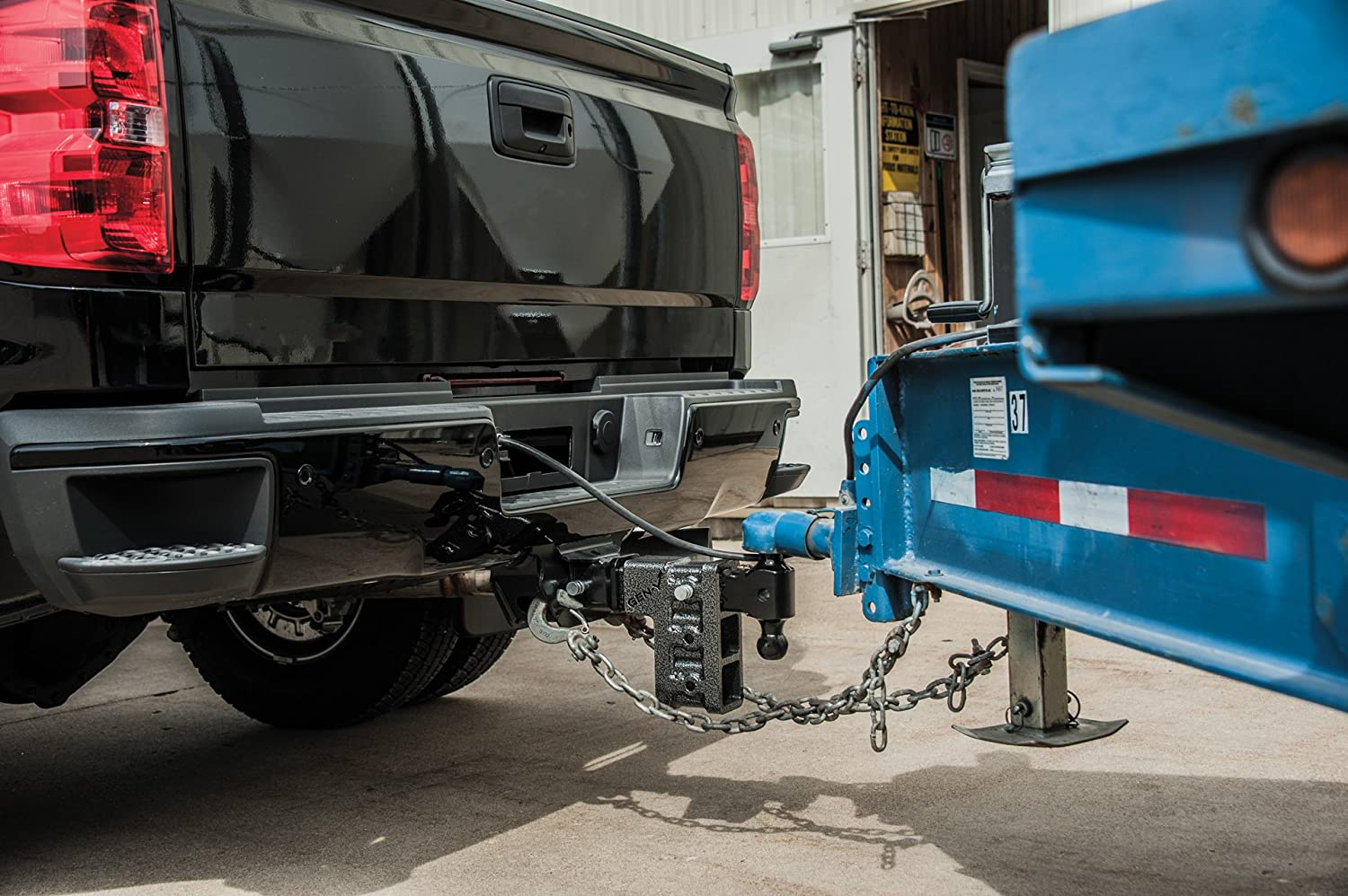 Pintle Lock /& 2 Hitch Drop Hitch 2.5 Receiver Class V 21K Towing Hitch GH 624 Combo Includes Dual Hitch Ball 9 DROP 2.5