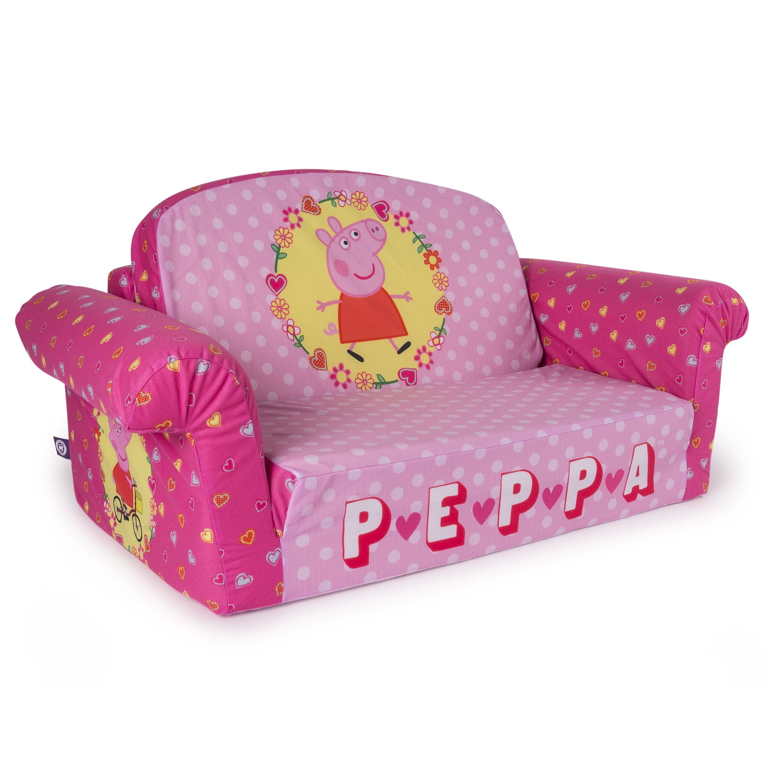 Marshmallow Furniture Childrens 2 In 1 Flip Open Foam Sofa Peppa