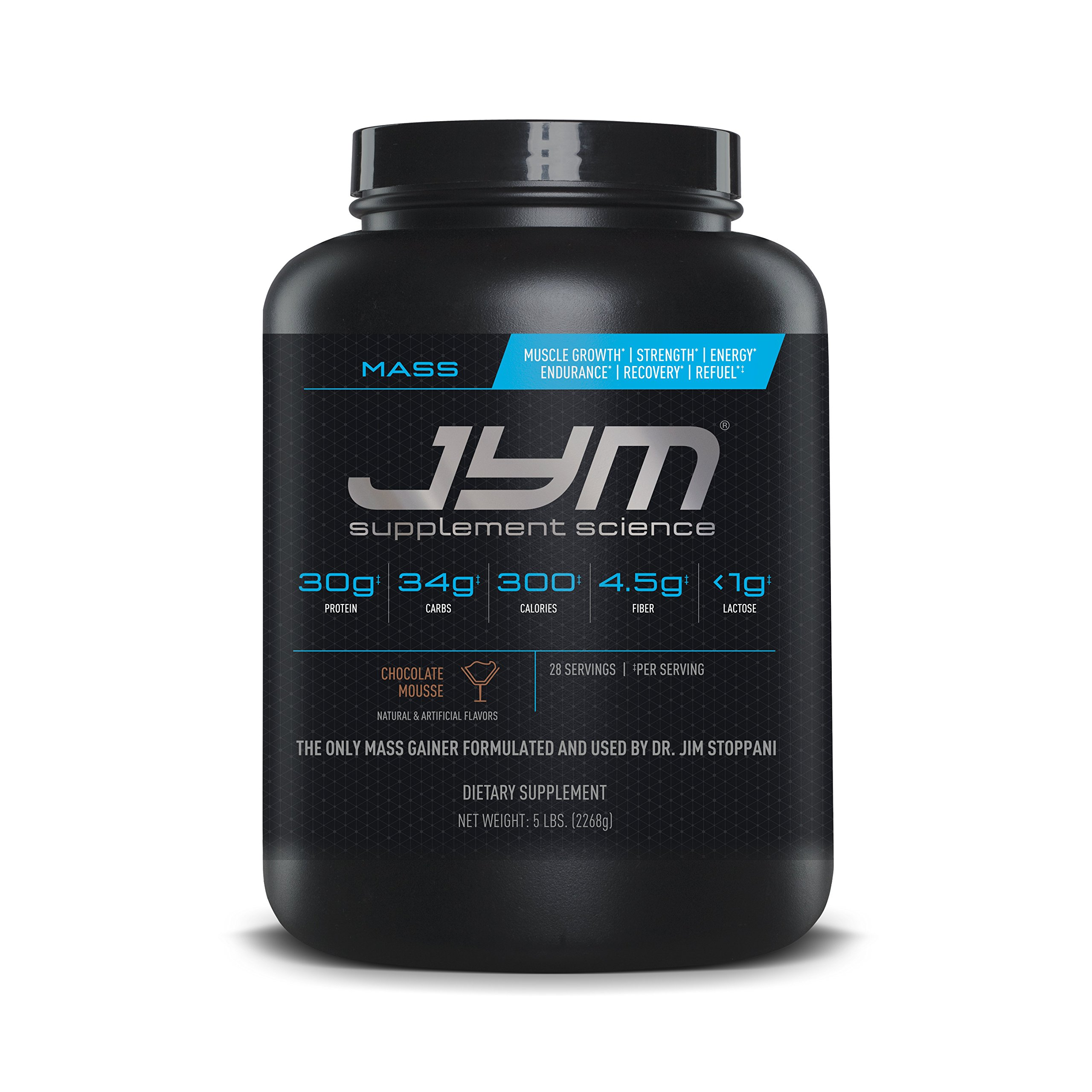 Mass JYM Protein Powder - Egg White, Milk, Whey Protein Isolates & Micellar Casein | JYM Supplement Science | Chocolate Mousse Flavor, 5 lb by JYM Supplement Science