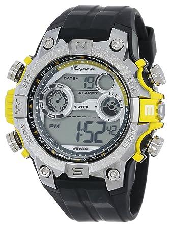 Burgmeister BM800-112E Digital Power, Gents alarm watch, Digital display, Quartz with