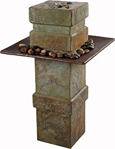 Kenroy Home 51049SL Pilaster Fountains, Natural Slate and Copper Finish