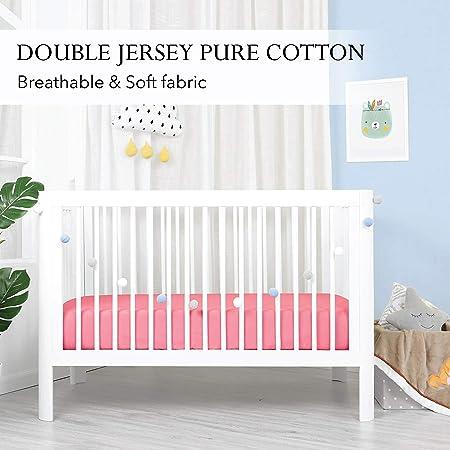 2 x Lit bébé Drap Housse Bleu Blanc étoiles 60x120 cm 70x140 cm en coton pur