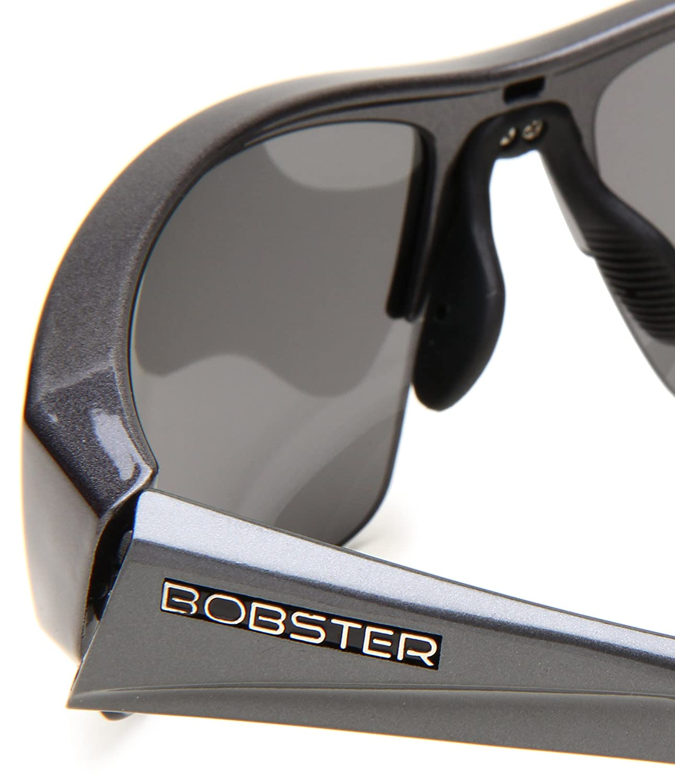 Bobster Ryval ERYV002AR Rimless Sunglasses,Black Frame//Smoked Lens