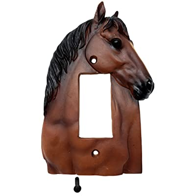 Rainbow Trading RA 4508 Horse Bust Single Rocker Decorative Wall Plate: Home & Kitchen