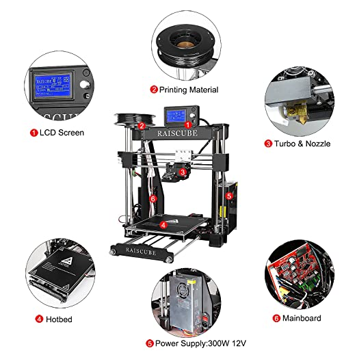Impresora 3D para automontaje de TSSS, con marco de aluminio, para ...