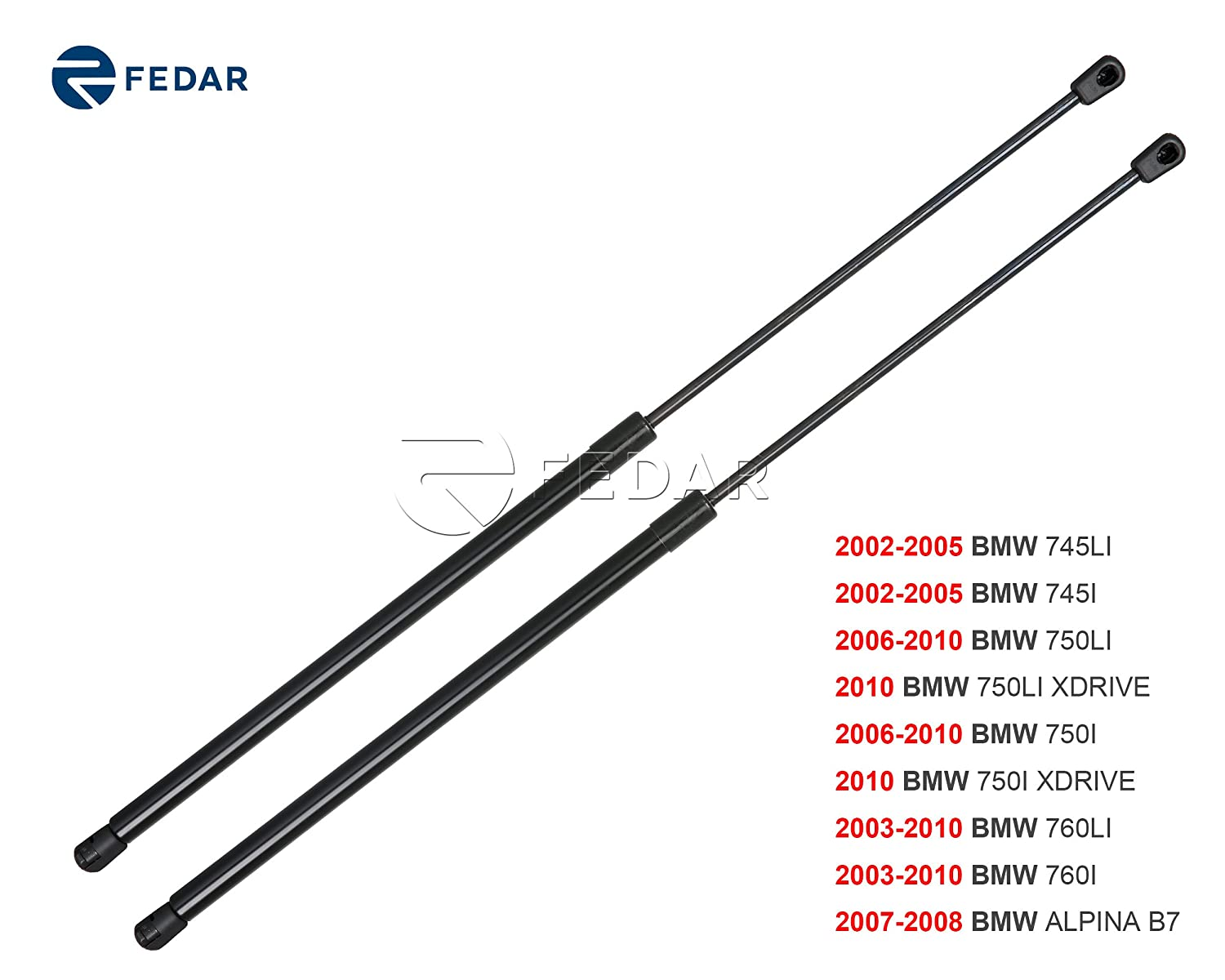 Fedar Front Hood Gas Charged Lift Support for 2002-2005 BMW 745/2006-2010 BMW 750/2003-2010 BMW 760 Fedar Group Inc