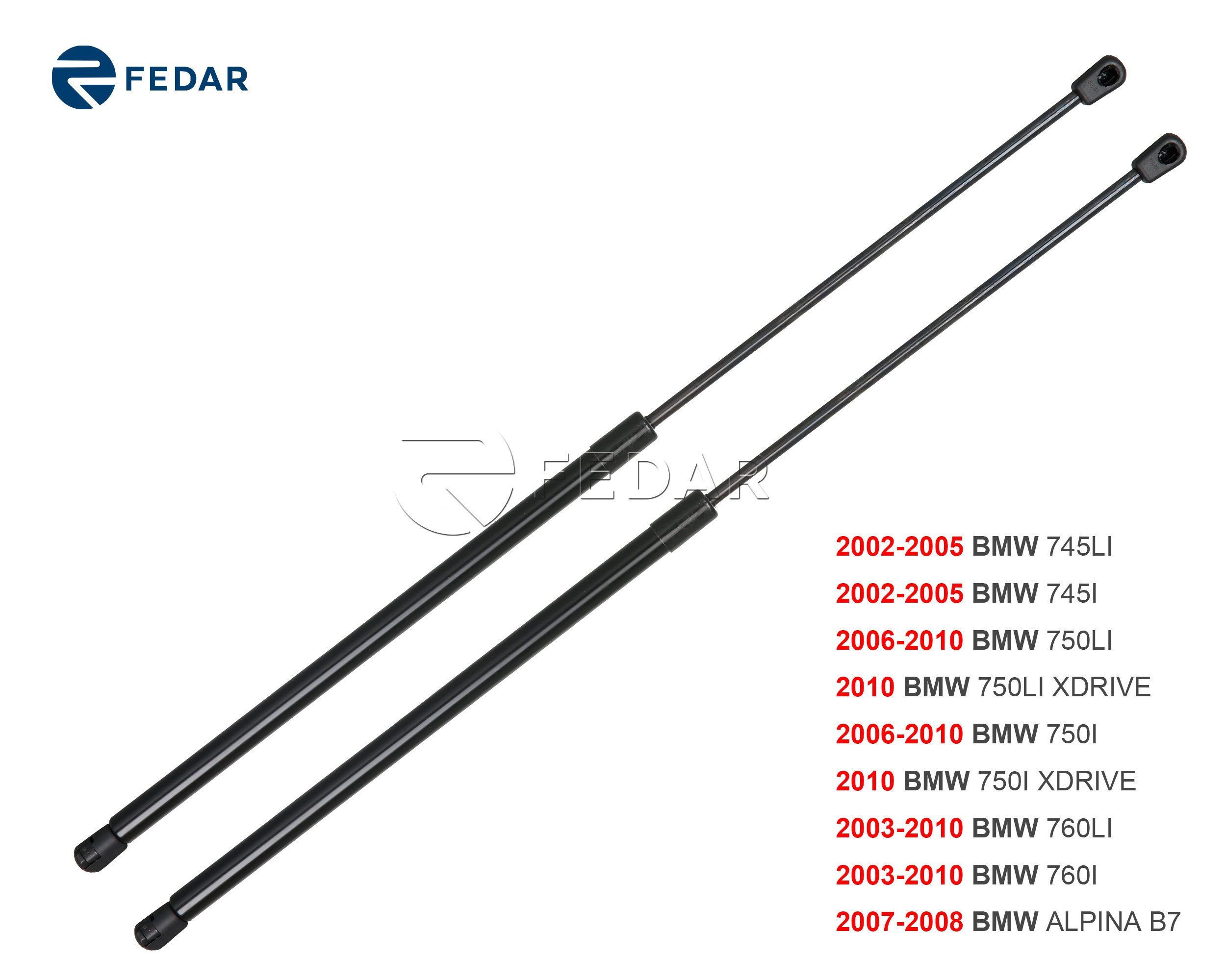 Fedar Front Hood Gas Charged Lift Support for 2002-2005 BMW 745/2006-2010 BMW 750/2003-2010 BMW 760