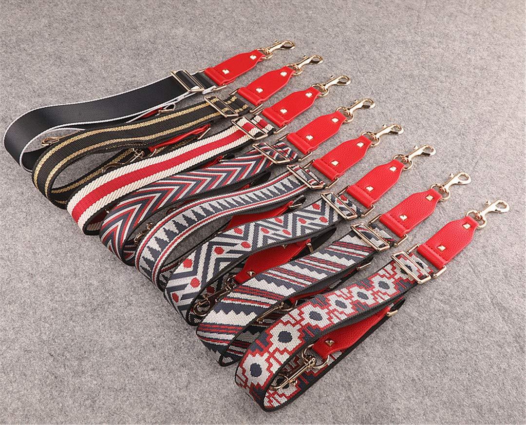 Handbags Strap Striped Dot Design National Buckle Canvas Bag Straps Trendy Easy Holding Shoulder Straps Qn385 red blue dot