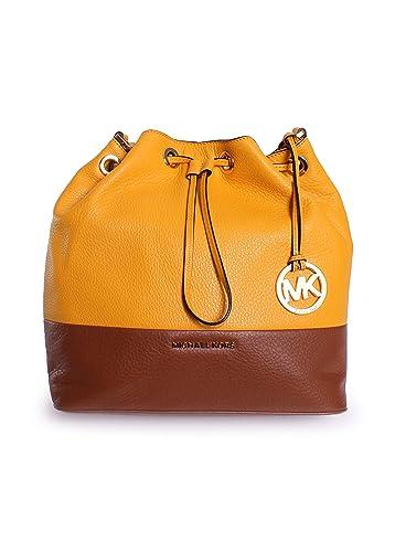 269947b1dfee87 MICHAEL Michael Kors Jules Large Drawstring Shoulder Bag Sun Luggage ...