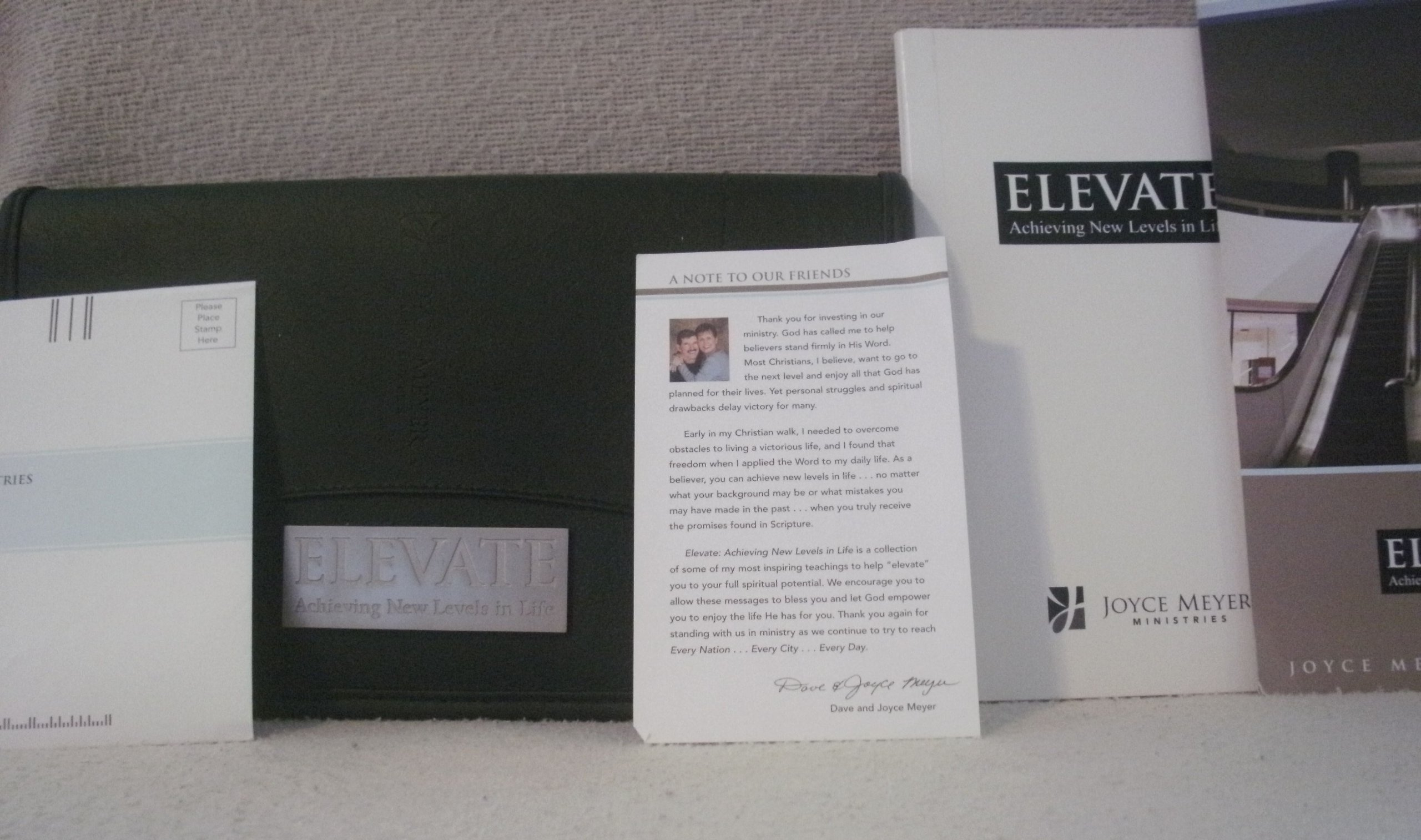 Joyce Meyer Elevate Acheiving New Levels in Life: Amazon com: Books