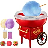 AICOOK Cotton Candy Machine for Kids, Nostalgia Cotton Candy Maker Include Sugar Scoop and 10 Cones, Homemade Sweets for Birt