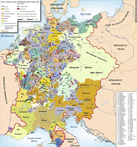 Holy Roman Empire Map Amazon.com: Framed Art Your Wall Map The Holy Roman Empire, 1400