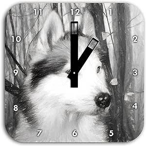 Efecto Dibujo a carboncillo con perros de Vigile, reloj de