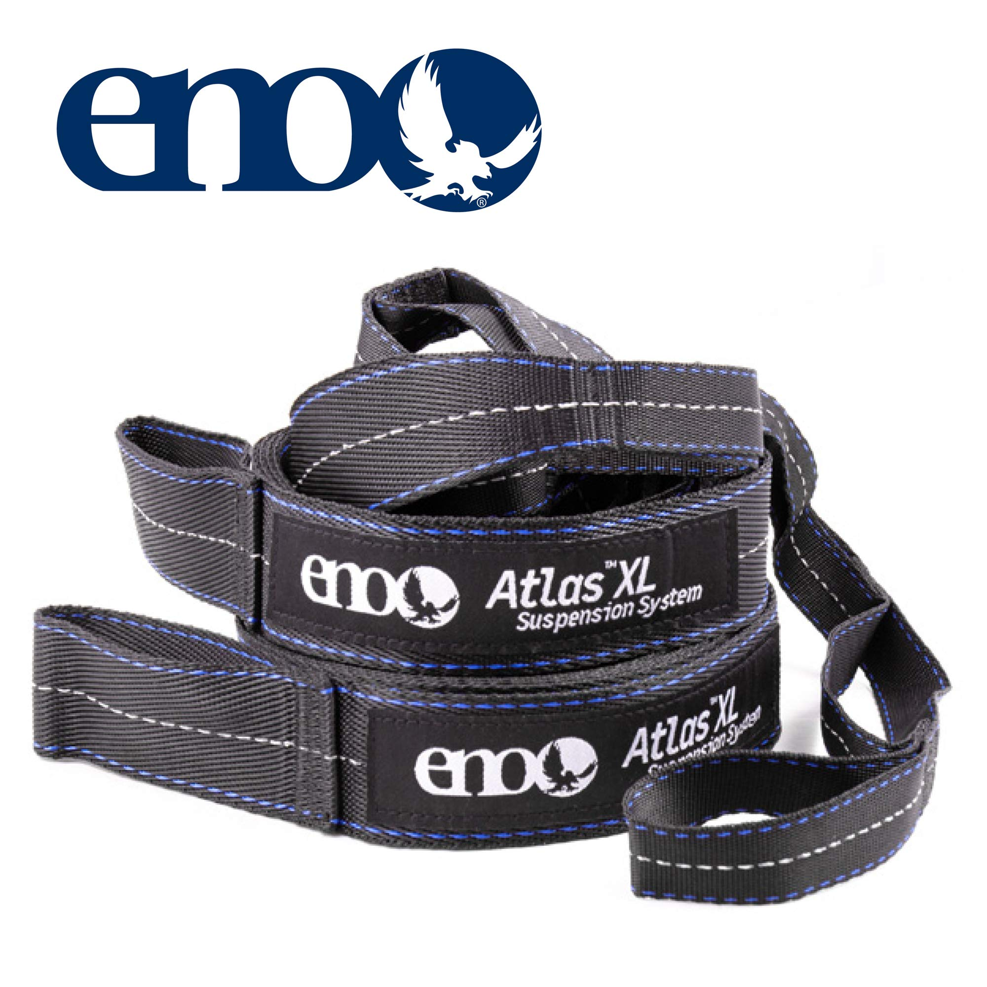 ENO - Eagles Nest Outfitters Atlas XL Hammock Straps, Suspension System, 400 LB Capacity, 13'6'' x 1.5/.75''