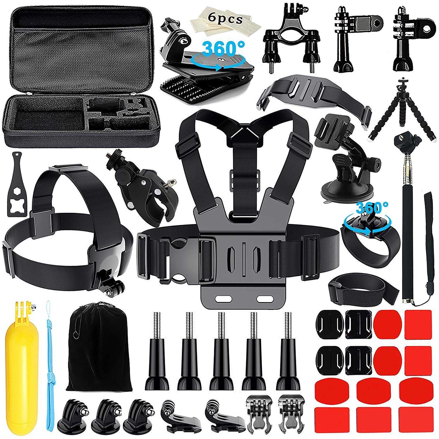 Iextreme Camera Accessories for GoPro Hero 2018 Session/6 5 Hero 4 3+ SJ4000/5000/6000/AKASO/APEMAN/DBPOWER/And Sony Sports DV and More