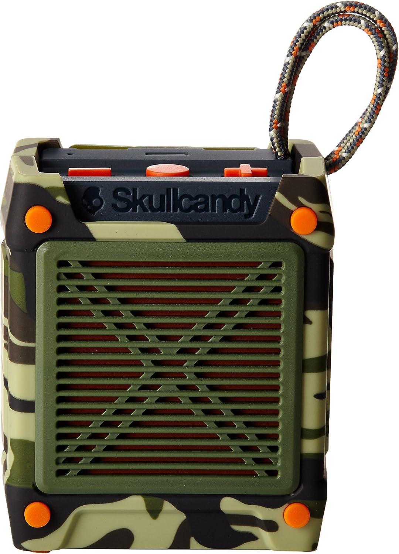 Skullcandy Shrapnel Splash and Drop Resistant Wireless Bluetooth  Rechargeable Portable Speaker - Camo/Olive/Slate