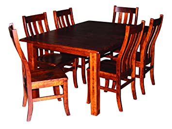 Aspen Tree Interiors Amish Made 9 Piece Solid Wood Cherry Kitchen Dining  Room Table For 6