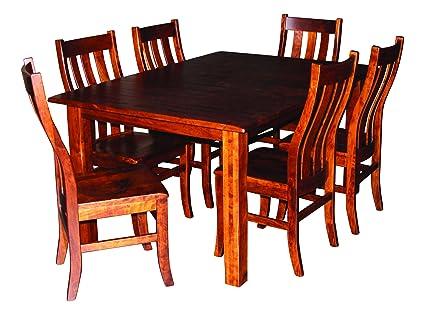Amazon.com - Aspen Tree Interiors Amish Made 9 Piece Solid Wood ...