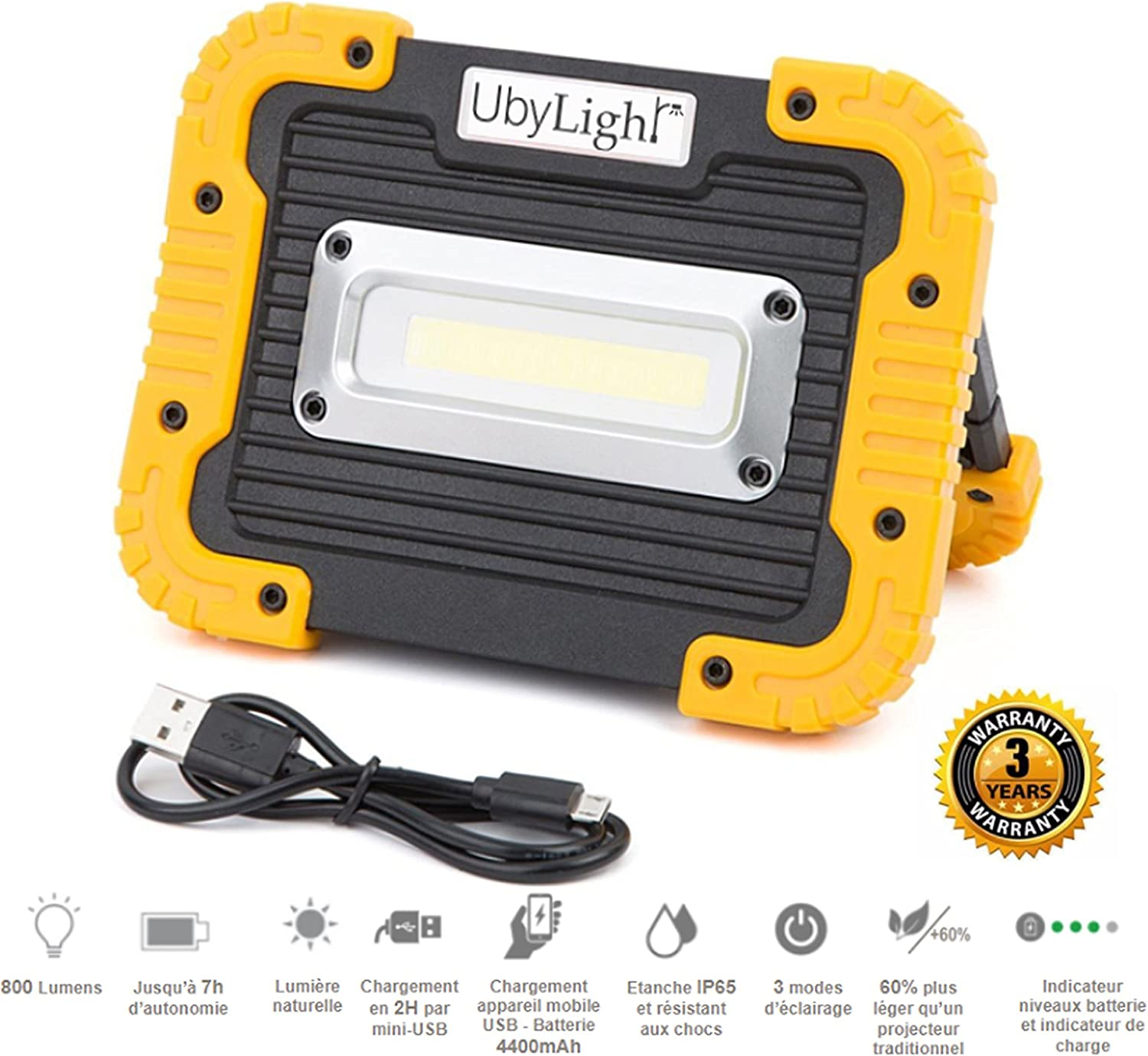 NEW] Foco LED proyector recargable ultra compacta 10 W | 800LM | 7 ...