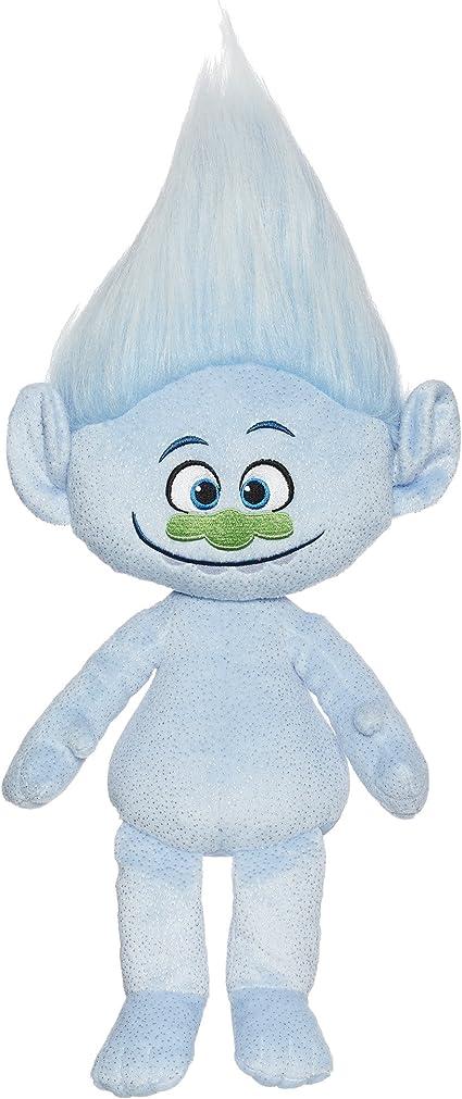 """DreamWorks Trolls Guy Diamond Hug N Plush 12/"""" Doll Blue Stuffed Toy NEW"""
