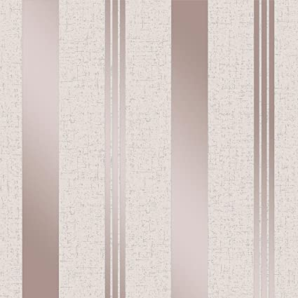 Quartz Stripe Wallpaper Rose Gold Fine Decor FD42205