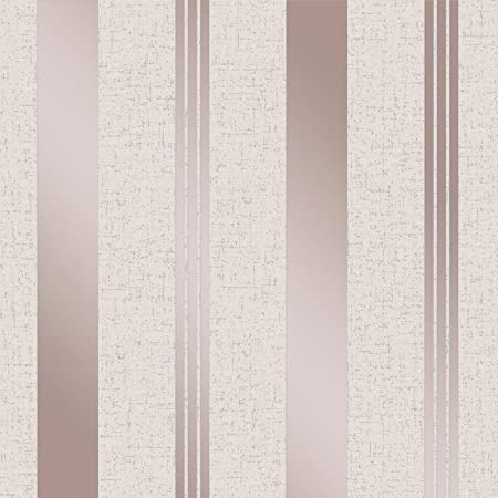 Quartz Stripe Wallpaper Rose Gold Fine Decor Fd42205 Amazon Com