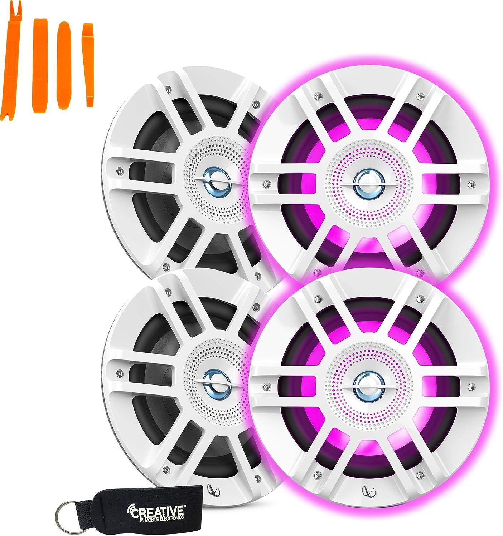 Titanium//Gunmetal Infinity 10 Marine RGB Kappa Series Speakers KAPPA1050M