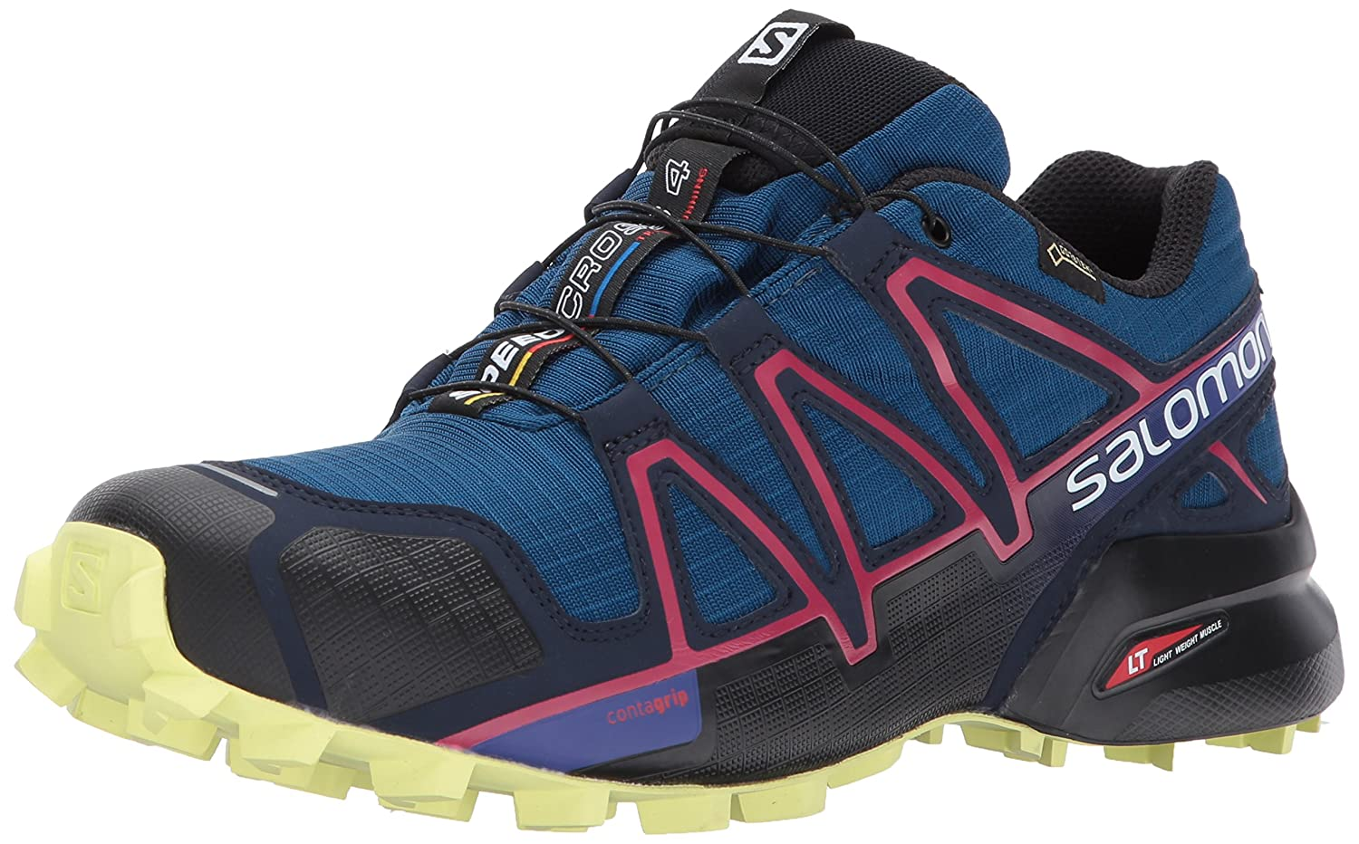 Salomon Women's Speedcross 4 GTX W Trail Runner B01N98B9M7 9 B(M) US|Poseidon/Virtual Pink/Sunny Lime